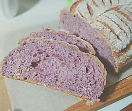 紫薯燕麦欧包#Niamh一步搞定懒人面包#的做法