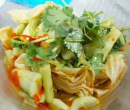凉拌豆皮黄瓜-快速凉拌菜的做法