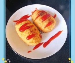 #爆浆手抓饼肉松酥#手抓饼和面包糠的完美结合的做法