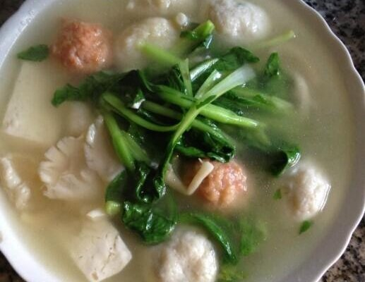 肝癌做法豆腐营养汤的青菜食谱大全丸子术后蘑菇图片