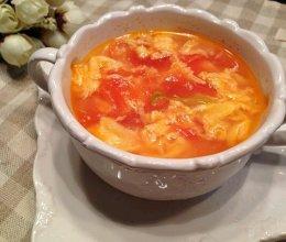 瘦身食谱:西红柿蛋花汤的做法
