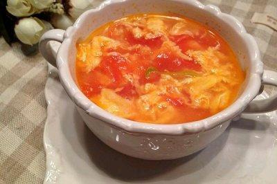瘦身食谱:西红柿蛋花汤