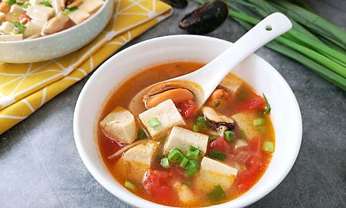 #520,美食撩动TA的心!#青口贝豆腐羹的做法