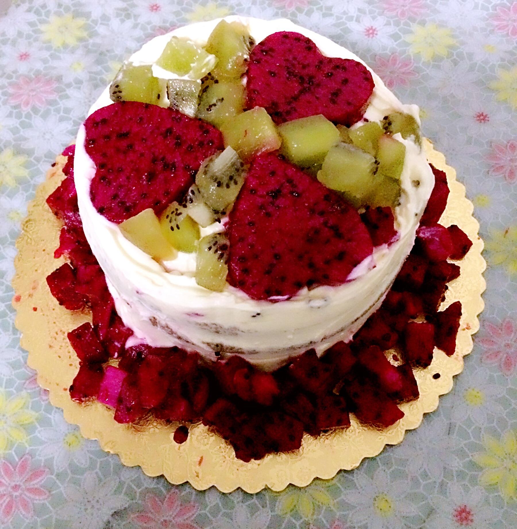 水果奶油蛋糕的做法_【图解】水果奶油蛋糕怎么做
