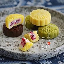 山药蔓越莓馅绿豆糕