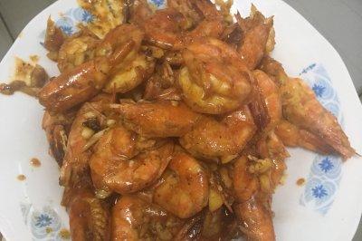 蒜蓉黑椒虾