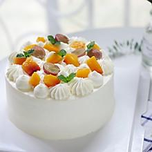 小清新 | 新鲜黄桃水果戚风蛋糕