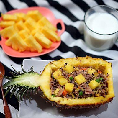 三蔬三色菠萝炒饭
