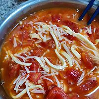 减肥晚餐(金针菇番茄汤)的做法图解7