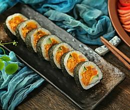蛋黄肉松寿司的做法