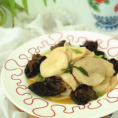 #菁选酱油试用之杏鲍菇炒木耳的做法 步骤8