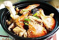 花蟹焖鸡的做法
