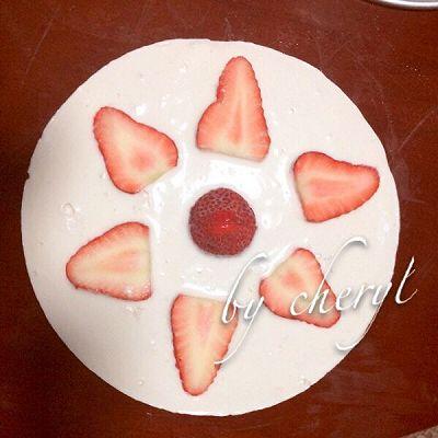 简单易做版~草莓酸奶冻芝士cack