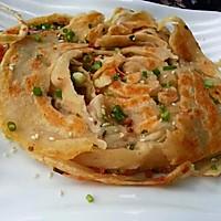 火腿酥脆葱油饼的两种形态的做法图解13