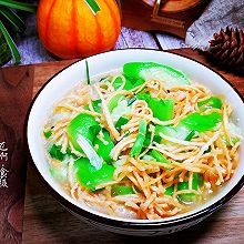 #太太乐鲜鸡汁玩转健康快手菜#丝瓜炒馓子
