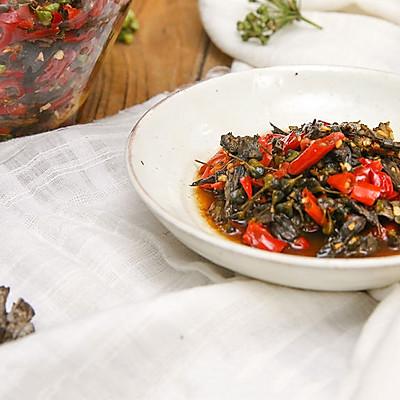韭菜花腌干巴菌|美食台