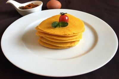 奶香玉米面饼#急速早餐#