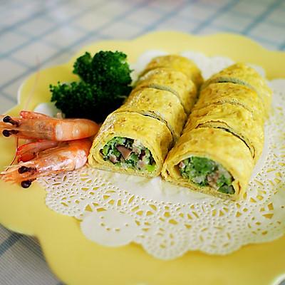鲜虾蔬菜鸡蛋卷--宝宝辅食