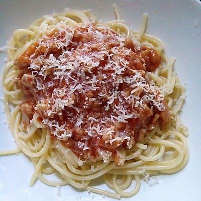 芝士番茄肉酱意面的做法 步骤4