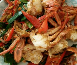 辣炒花蟹的做法