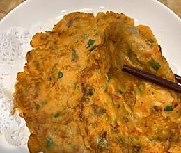 泡菜饼:太香了的做法