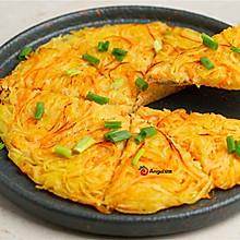 土豆这样做,孩子非常喜欢,土豆丝鸡蛋饼