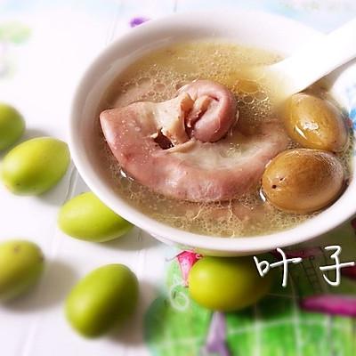 潮汕~青橄榄粉肠汤,解救你的喉咙