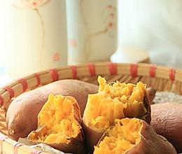 分分钟可以吃到的美味烤红薯的做法