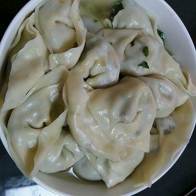 香菇油菜鸡蛋饺子