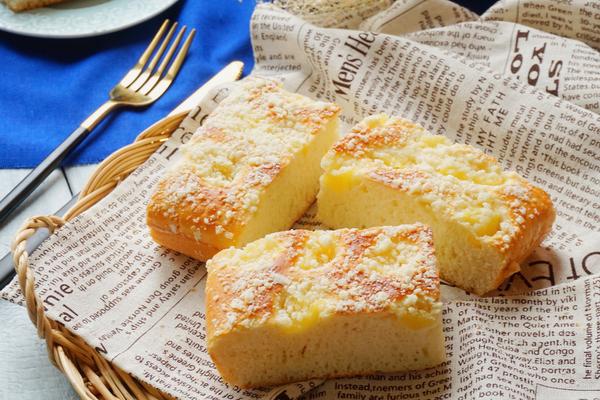 菠萝酥粒面包(无黄油)的做法