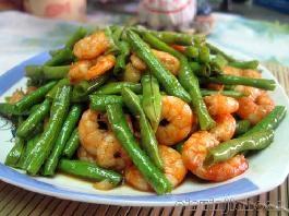 虾仁炒豆角