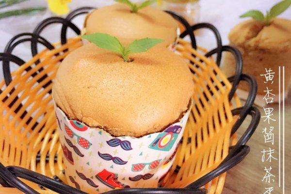 抹茶黄杏果酱纸杯蛋糕的做法