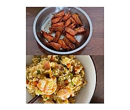 家庭版❗️虾仁炒饭虾一虾两吃的做法