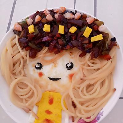 儿童餐,意大利面