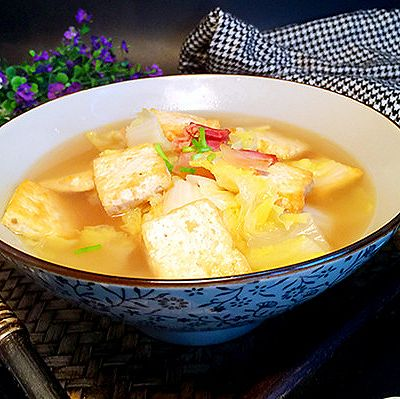 娃娃菜豆腐汤