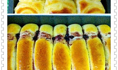 蓝莓排包、沙拉酱排包的做法