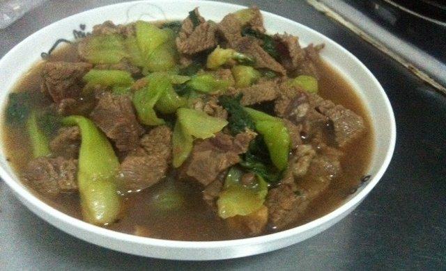 牛肉炖青菜