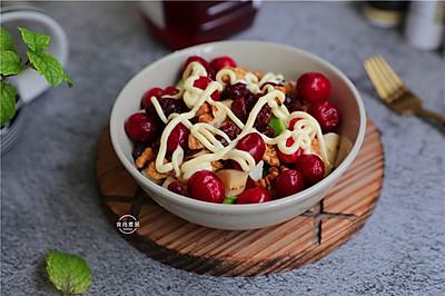 蔓越莓核桃水果沙拉