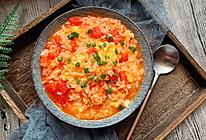 #童年不同样,美食有花样#番茄浓汤烩饭的做法