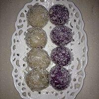 只属于你(紫薯芋泥)椰蓉奶香芋圆的做法图解8