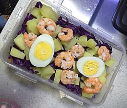 健身食谱--虾仁蔬菜沙拉的做法