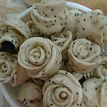 玫瑰芝麻小花卷