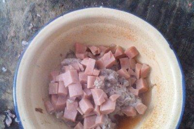 火腿肠蒸肉