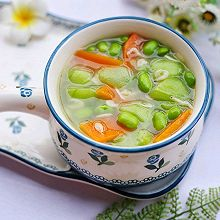 #秋天怎么吃#丝瓜毛豆虾米汤