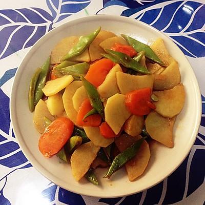 素炒土豆豆角(家常菜)