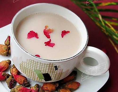 玫瑰花豆浆