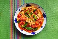 番茄青椒炒蛋的做法