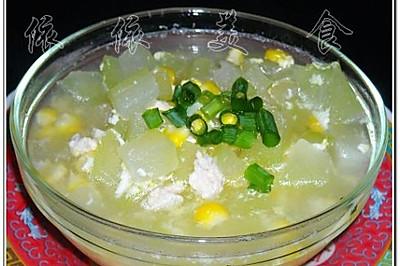 玉米节瓜蛋花汤
