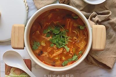 非典型冬阴功味的牛筋汤