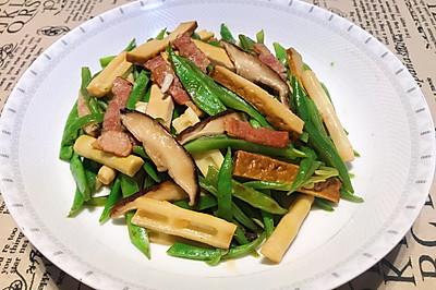 培根扁豆炒熏干
